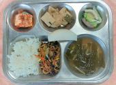 4.21. 궁중비빔밥 열무된장국 감자어묵조림 애호박표고버섯볶음 배추김치 배